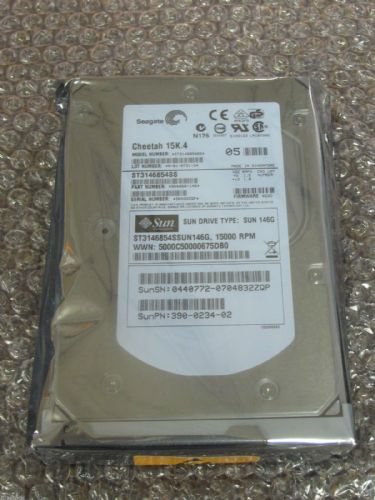 "NEW Sun ST3146854SSUN146G,146Gb 15k 3.5"" SAS Hard Drive 390-0234-02"